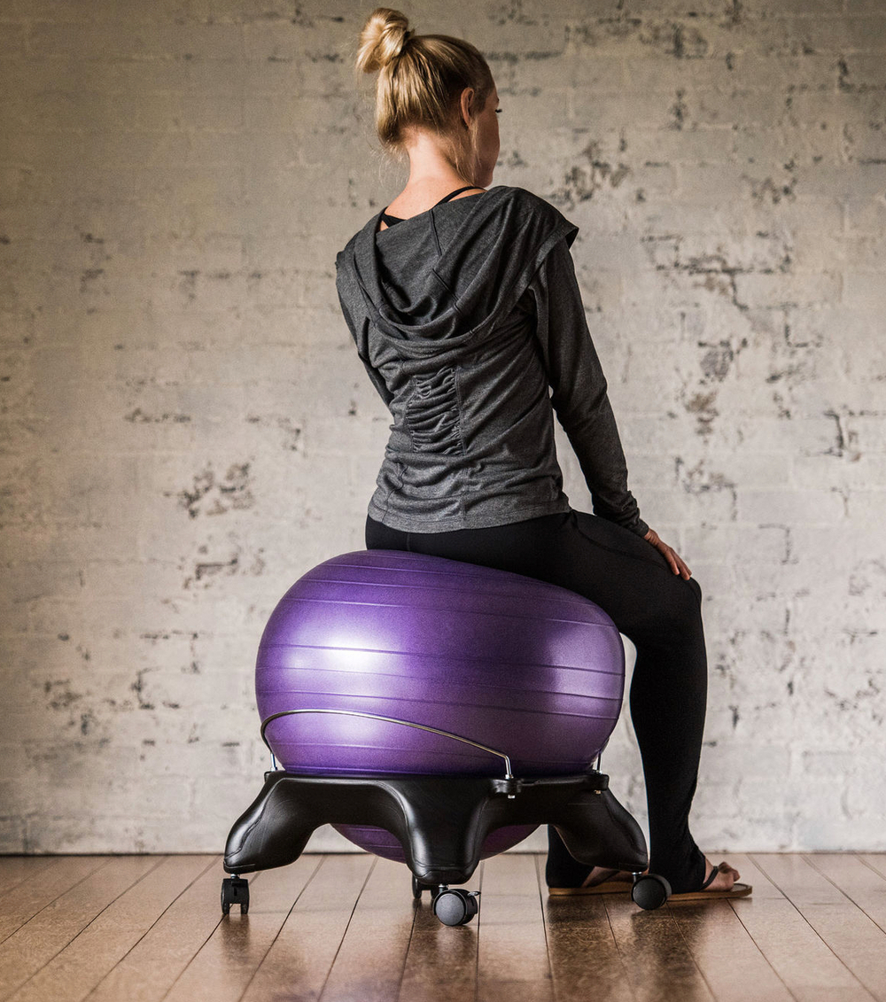 chairs such as the balanceball chair are designed to provide core comfort and ergonomic back support and help to improve spinal alignment and