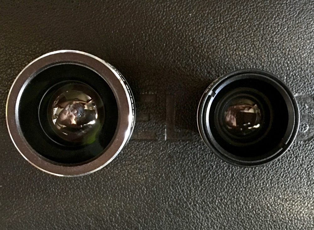 """Limelens """"The Captain"""" (left) and """"The Thinker"""" (right) lenses. Photo ©2016 Steven Sande"""