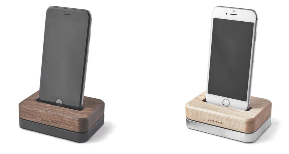 Wood iPhone Docks