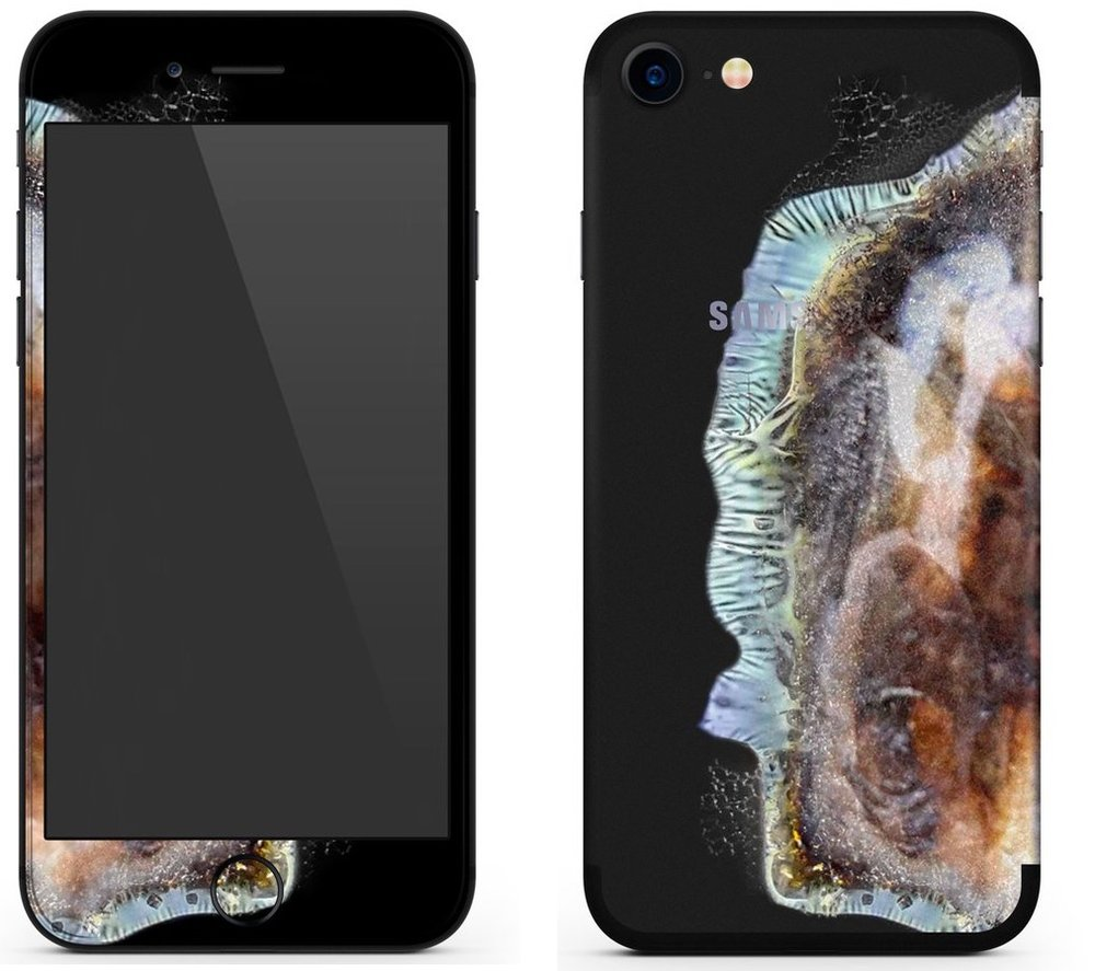 Sad that you don't have a Galaxy Note 7? Get the Explo-Sung skin for your iPhone!