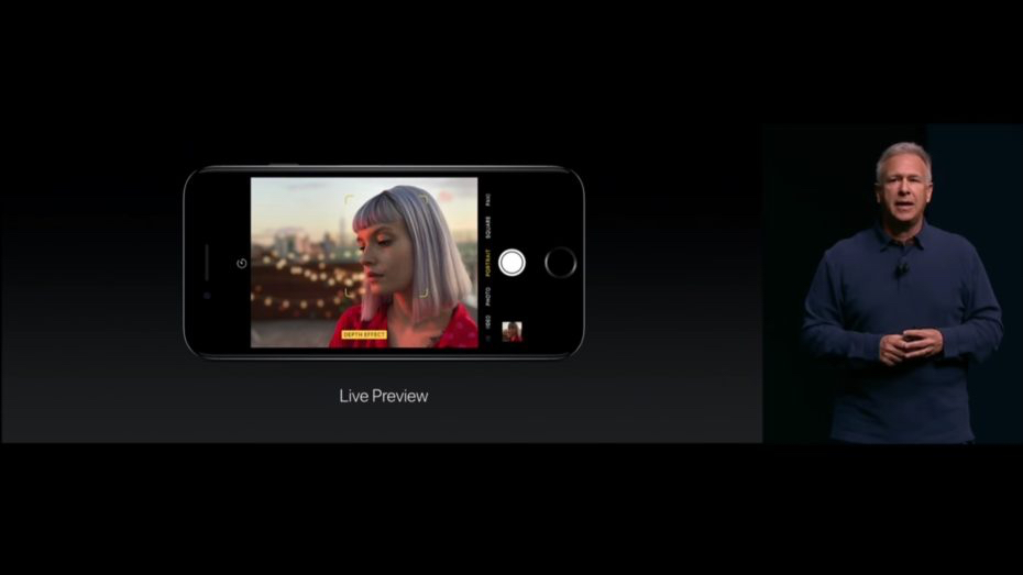 Apple vice president of worldwide marketing Phil Schiller talks about portrait mode for the iPhone 7 Plus at this year's Worldwide Developer Conference.