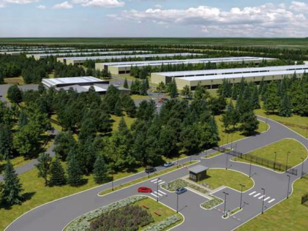 "THIS COMPUTER GENERATED IMAGE OF APPLE'S PROPOSED DATA CENTER IS COURTESY OF ""BUSINESS INSIDER."""