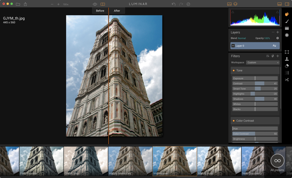 even a 15-year-old low-resolution architectural photo gained new life.
