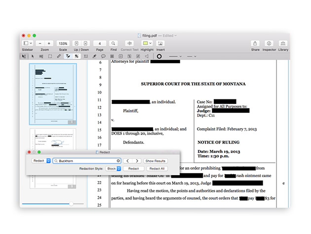 Redact your way to happiness with PDFpen 8!