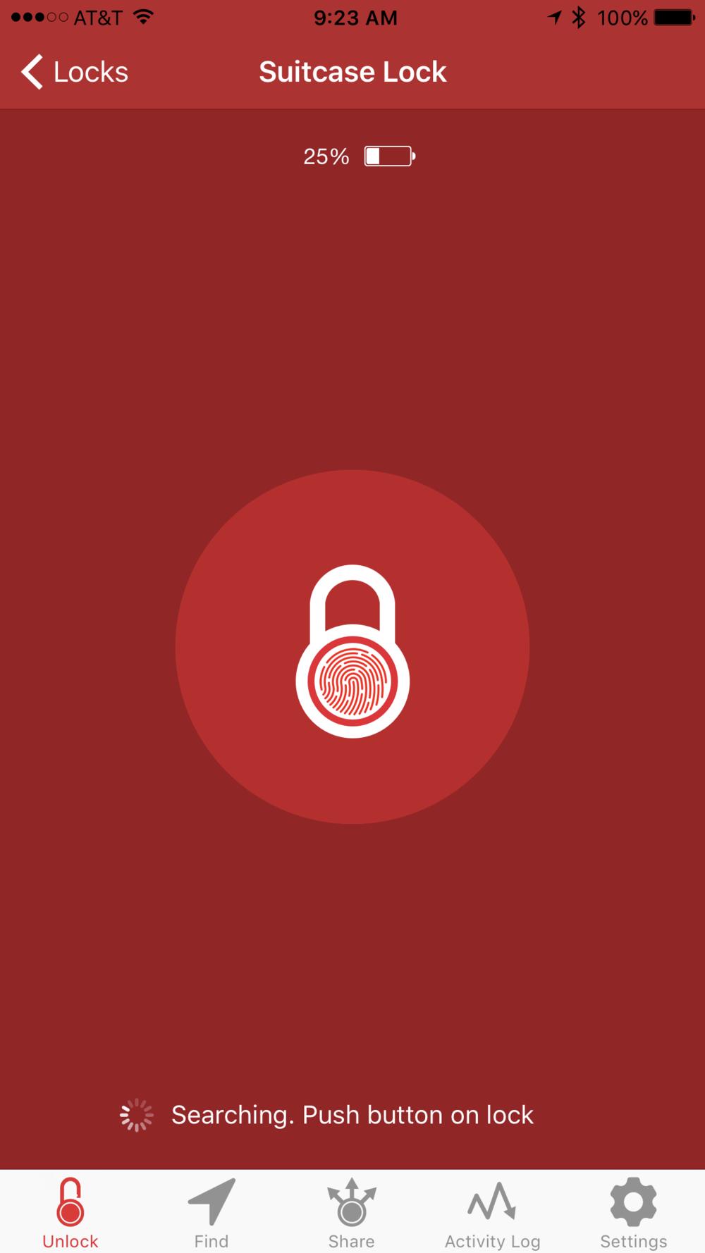 App requests a button push