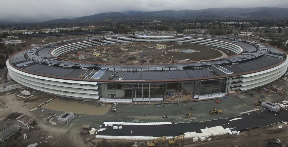photo image New Apple Campus 2 drone footage shows solid progress
