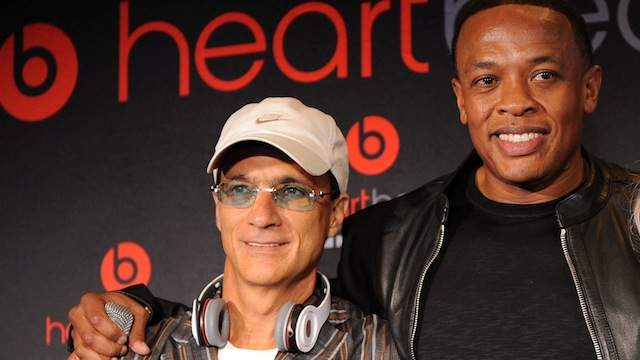 Apple execs Jimmy Iovine (left) and Dr. Dre (right). Image via heavy.com