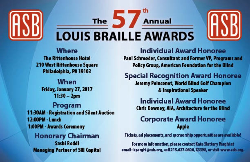Apple An Honoree At The 2017 Louis Braille Awards Apple