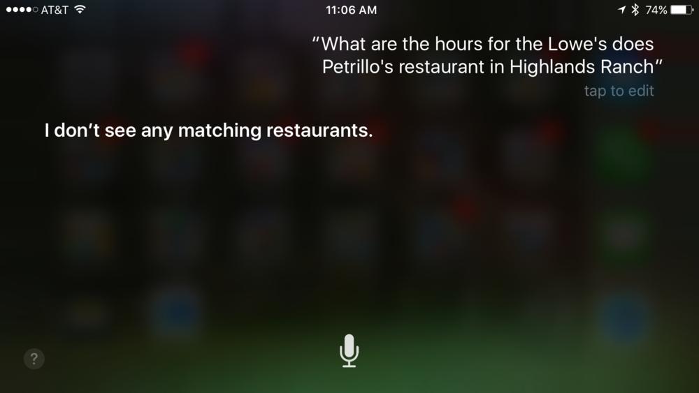 Siri no habla español