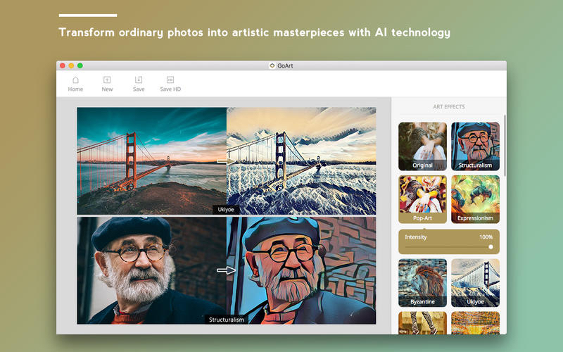 photo image GoArt lets Mac users create art with their photos