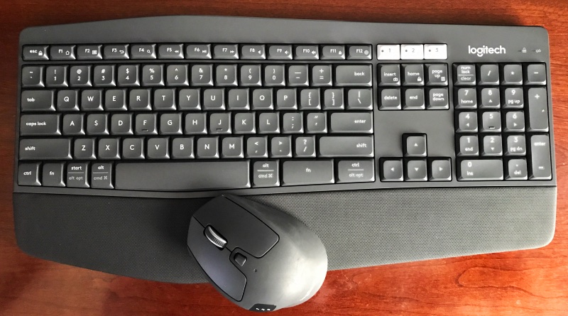 Logitech MK850 Performance Keyboard and Mouse. Photo ©2017, Steven Sande
