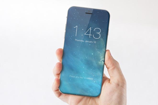 'iPhone 8'concept renderingby Marek Weidlich.