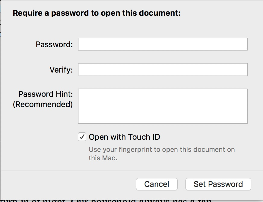 How to password-protect Pages, Numbers, Keynote docs in macOS Sierra