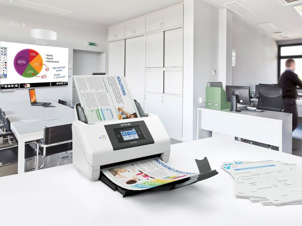 The Epson DS-780N commercial document scanner. Image via Epson.