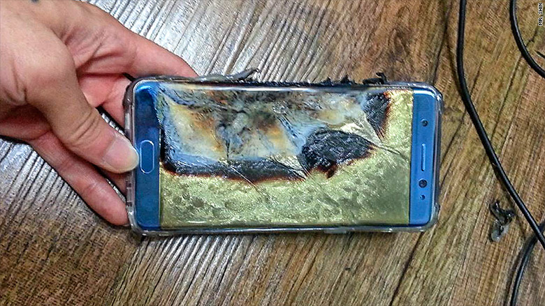 "This is a Galaxy Note 7 ""Flambé"", not a Galaxy S8+...at least not yet"