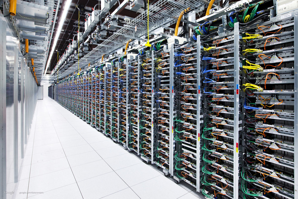 This image of a Google data center in Oklahoma demonstrates the scale of these projects.