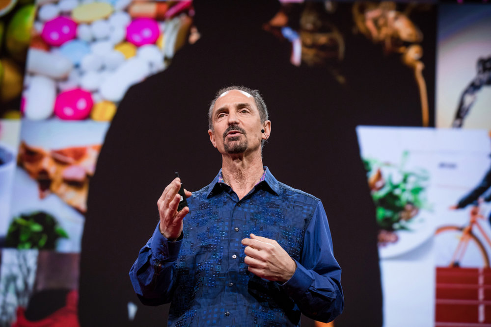 Tom Gruber helped create Siri, and imagines where the next step in AI will take humans. He speaks at TED2017, April 25, 2017, Vancouver, BC, Canada. Photo: Bret Hartman / TED