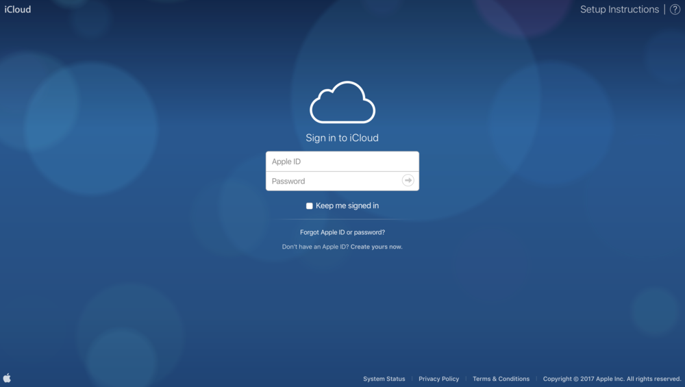 Do the Bokeh Pokeh: The iCloud.com login screen