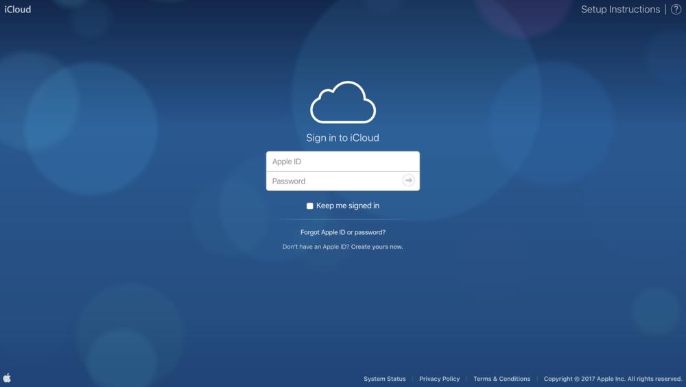 Do the Bokeh Pokeh: The iCloud.com login screen