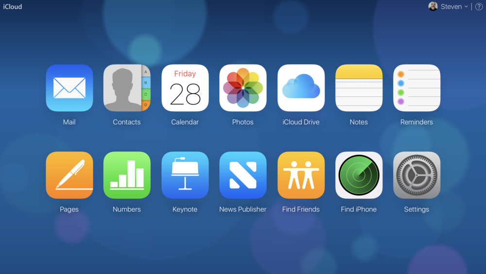 The new, totally bokeh iCloud home screen