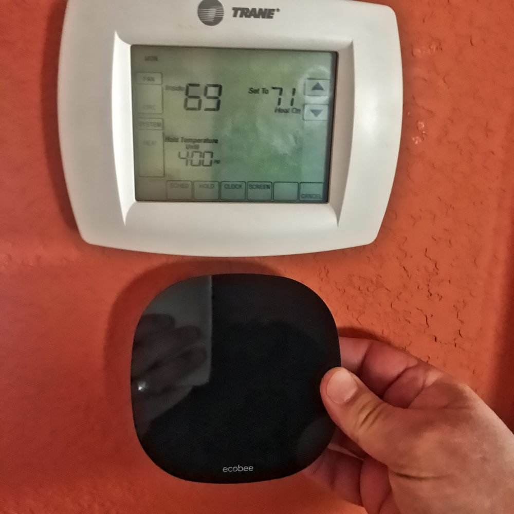 Small & Smart - The old thermostat is at top, while the ecobee3 lite is shown below. There is a LOT more intelligence built into the ecobee3 lite.