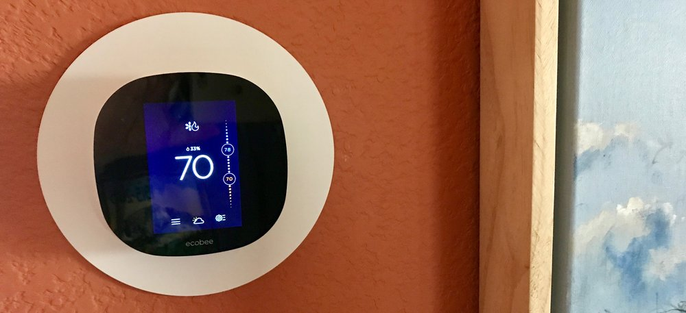 Backplate - The white backplate behind the thermostat is included and hides old screw holes and unpainted areas.