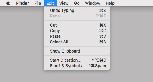 Memorize these keyboard shortcuts or at least memorize the ones for Cut, Copy, Paste, and Select All...