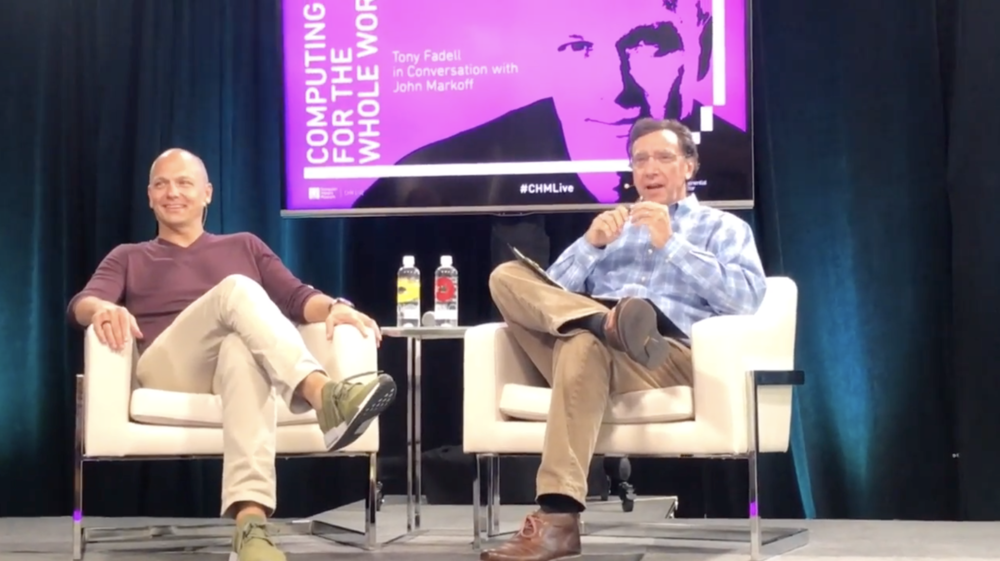 Tony Fadell (left) and John Markoff at the Computer History Museum. Photo via  AppleInsider