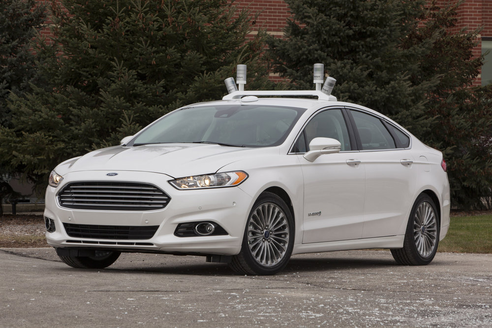 Ford Autonomous Test Vehicle. Image via LATimes.