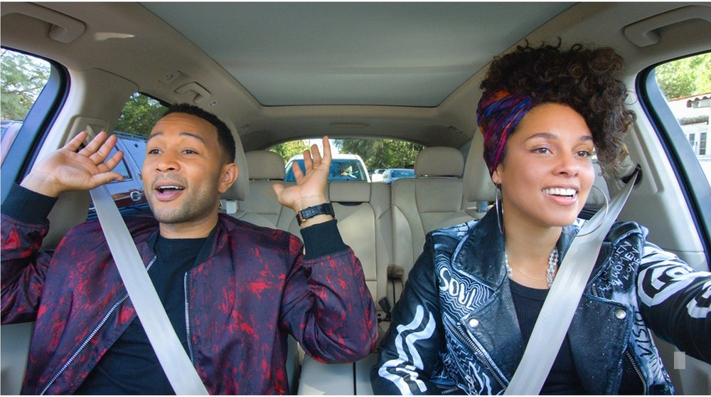 "New episodes of ""Carpool Karaoke: The Series"" will be available on Apple Music every Tuesday starting August 8. John Legend and Alicia Keys are two of the celebrities who will take the wheel."