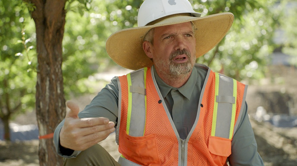 Apple Park senior arborist David Muffly. Photo via Apple.