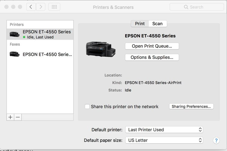 how to add a wi fi or network printer in macos sierra apple world