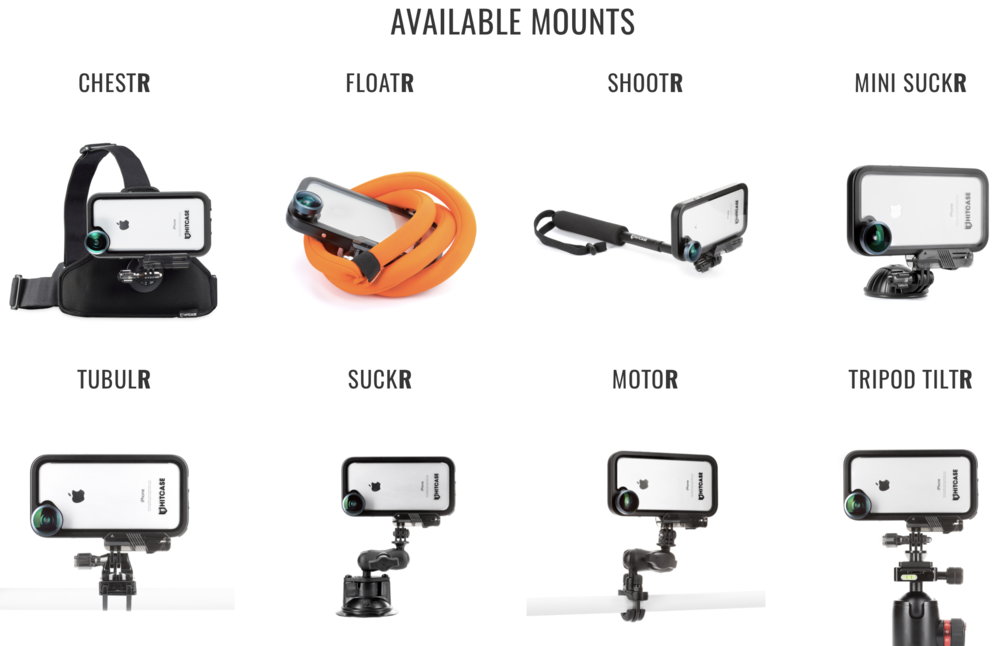 The spectrum of HITCASE mounts available