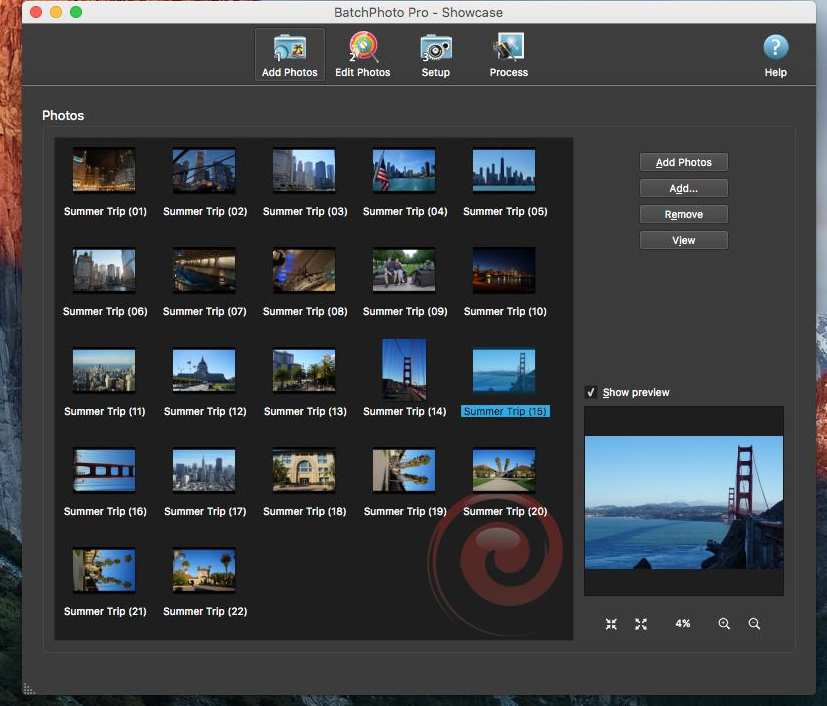 photo image BatchPhoto is a versatile photo manipulation app for the Mac