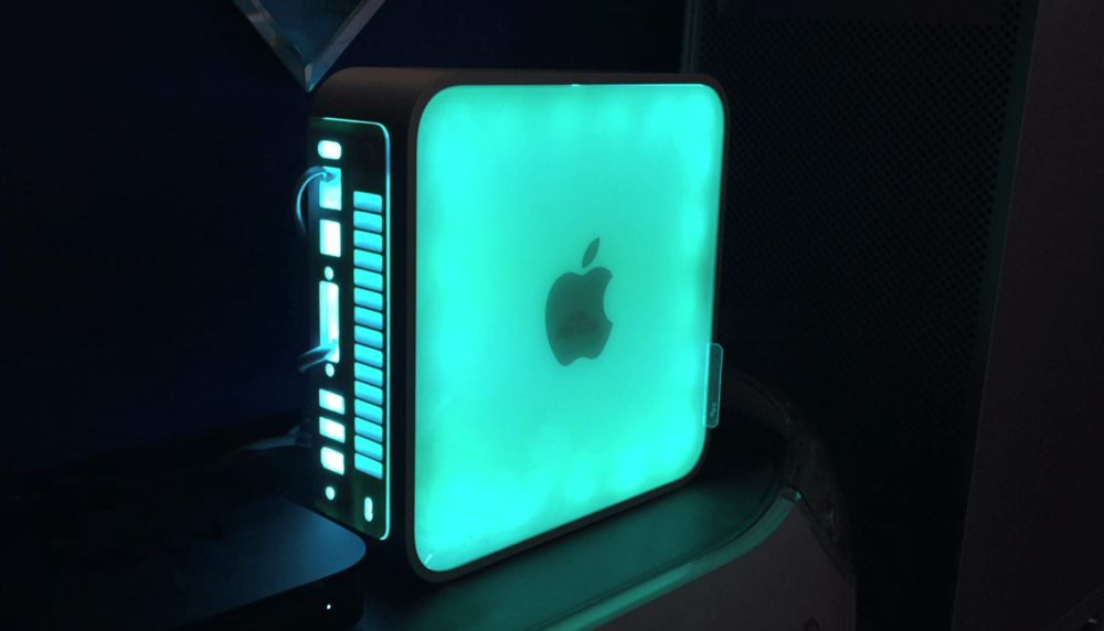 Mac mini lamp, photo by Gary Katz