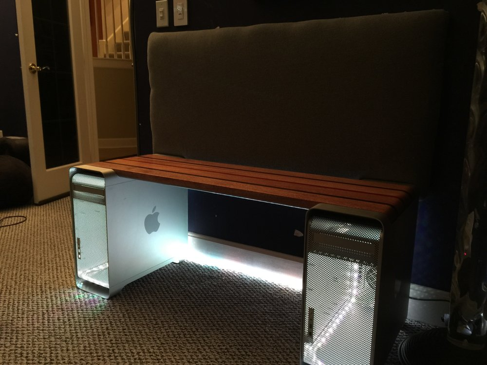 Mac Pro bench, photo courtesy of Gary Katz