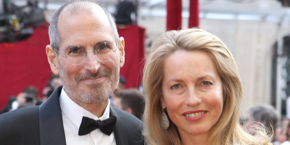 The late Steve Jobs (left) and Laurene Powell Jobs (right)