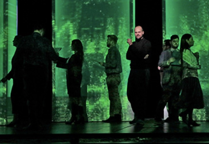 Edward Parks as Steve Jobs. Photo courtesy of The Santa Fe Opera