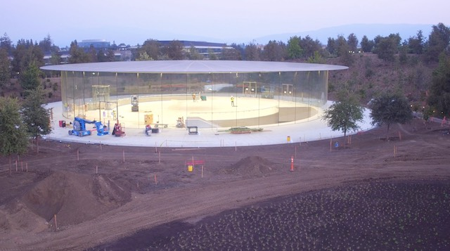 Steve Jobs Theater in late August. Photo via  Duncan Sinfield