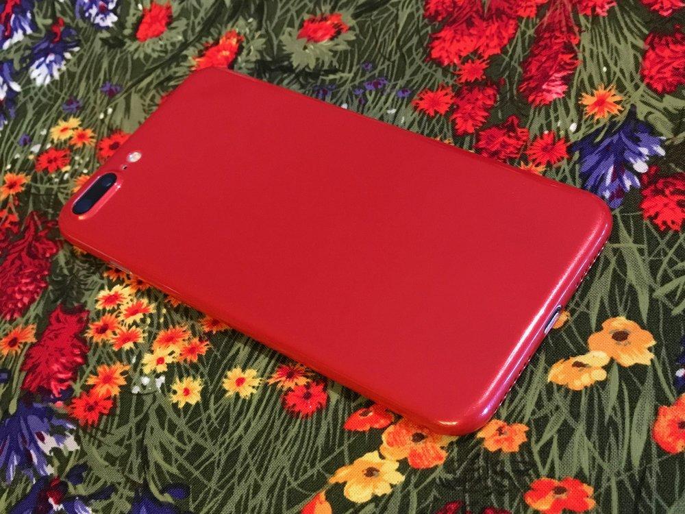totallee jet red iPhone 7 Plus case. Image ©2017, Steven Sande