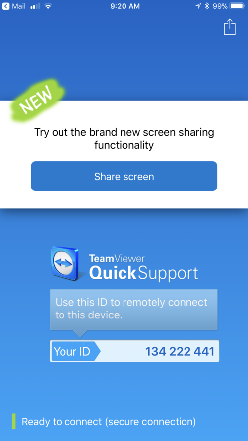 TeamViewer QuickSupport: Remote support of iOS devices — Apple World