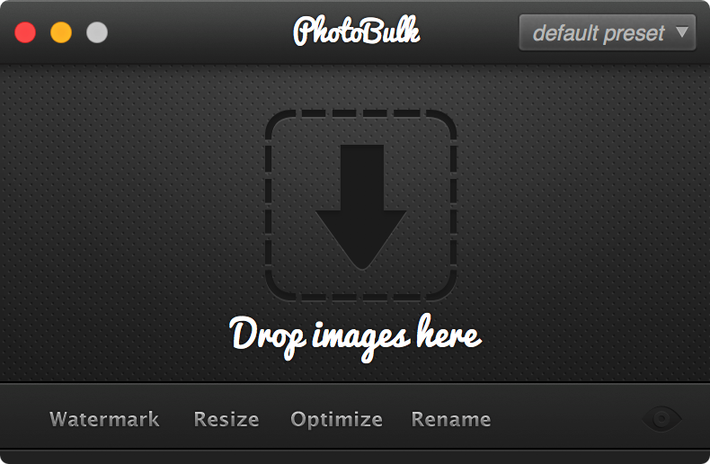 PhotoBulk's easy-to-use and understandable user interface
