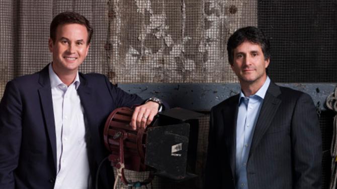 Zack Van Amburg and Jamie Ehrlicht of Apple.Image via Variety