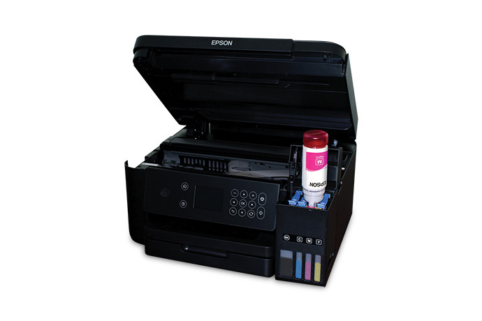Epson WorkForce ET-3750 getting a cyan ink refill