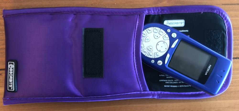 photo image A dry look at the Absorbits Wet Phone Rescue Pouch