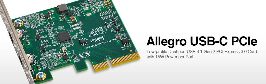 photo image Sonnet unveils Dual-Port USB 3.1 Gen 2 PCI Express 3.0 Adapter Card