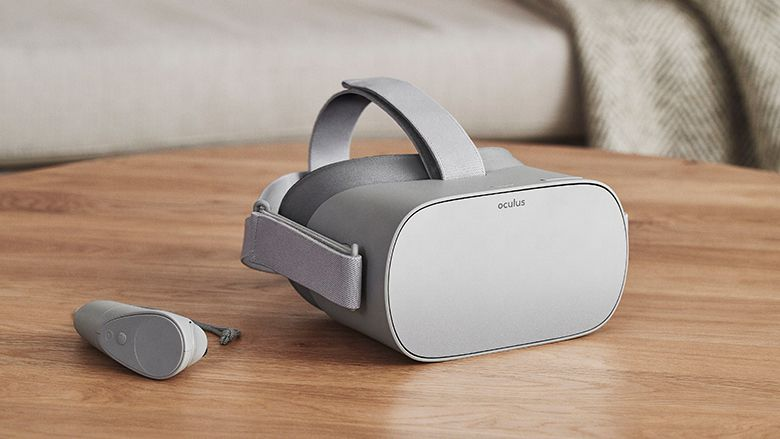 The slightly less pricey Oculus Go headset. You'll still look like a nerd wearing one.