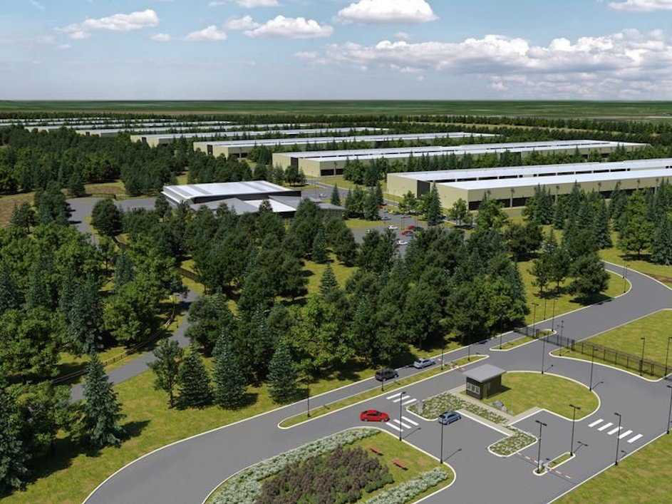 Computer-generated image of Apple's upcoming data center in Ireland — courtesy of 'Business Week'