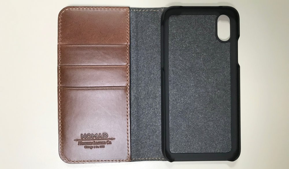 Nomad Leather Folio for iPhone X