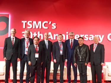 Apple COO Jeff Williams at far left at today's TSMC 30th Anniversary Celebration